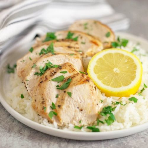 Chicken & Rice with Truffle Butter