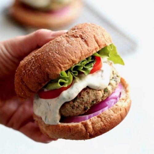 Greek-style turkey burgers