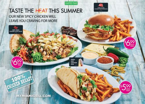 Miami Grill Wants Guests to 'Taste The Heat This Summer'