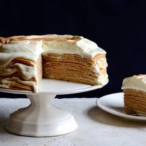 Crepe Cake with Patisserie Cream