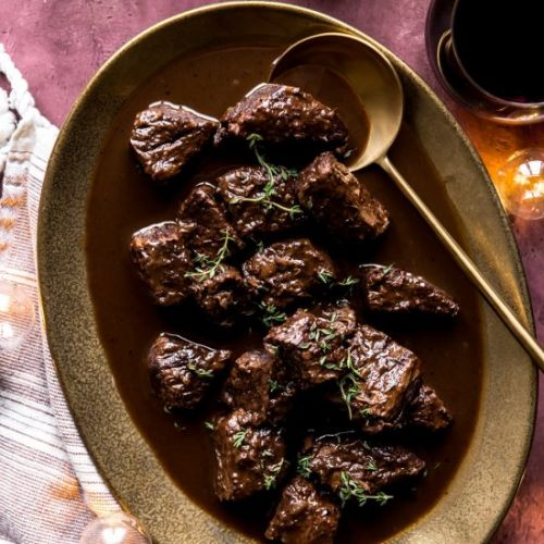 Red Wine Braised Beef Tips
