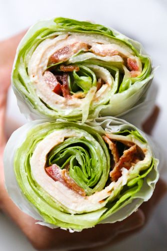 Chicken Club Lettuce Wrap Sandwich