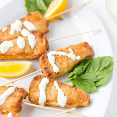 Beer Battered Fish with Cream Sauce