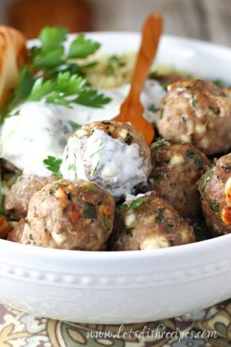 Greek Feta and Spinach Meatballs