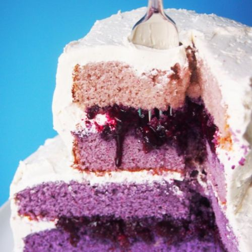 Purple Ombre Tiered Layer Cake