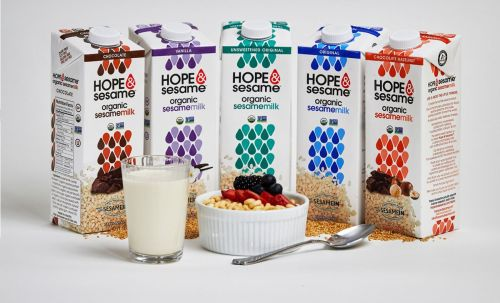 Spinning Wheel Brands Debuts Hope & Sesame Refrigerated Sesamemilk at Natural Products Expo East
