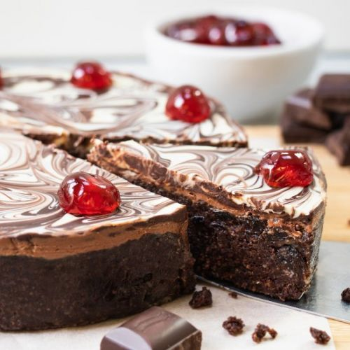 Cherry & Chocolate Biscuit Cake