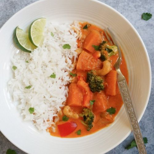 Instant Pot Thai Pumpkin Red Curry