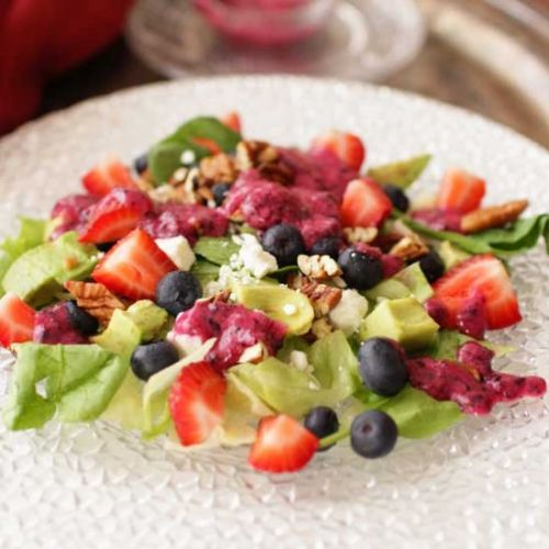 Avocado Salad With Berries For One