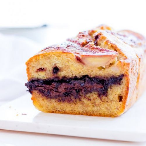 Banana Bread with Chocolate Filling