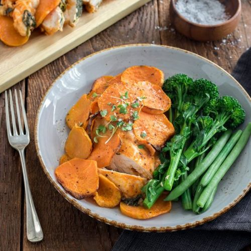 Chicken & Sweet Potato Bake