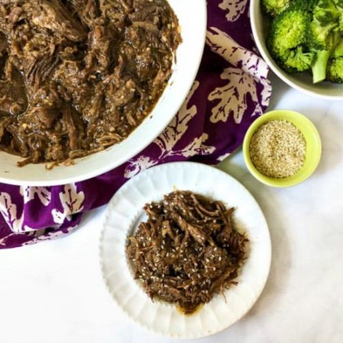 Low Carb Shredded Asian Beef