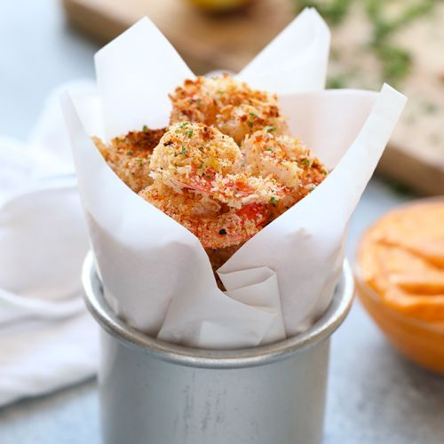 Baked Coconut Shrimp with Chili Mango Dipping Sauce {VIDEO}