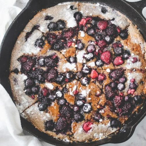 Mixed Berry Pancake Skillet