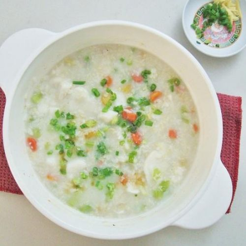 Veggies Fish Rice Porridge Congee