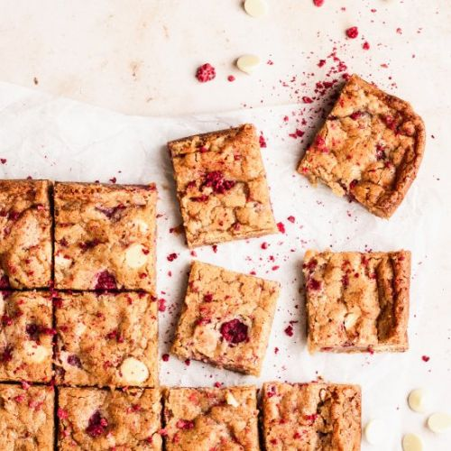 Raspberry White Chocolate Brownies