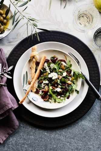 Arugula Salad with Blue Cheese and Dried Cranberries