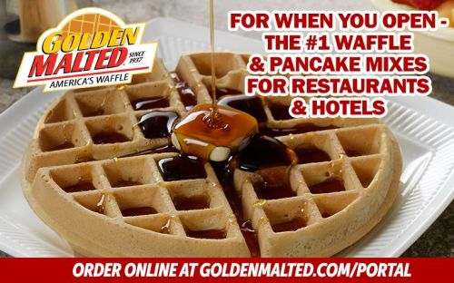 For When You Open - The 1 Waffle & Pancake Mixes for Restaurants & Hotels from Golden Malted, the World's Largest Mix Supplier