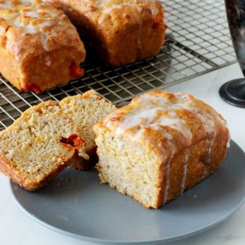 Apricot ginger mini loaves