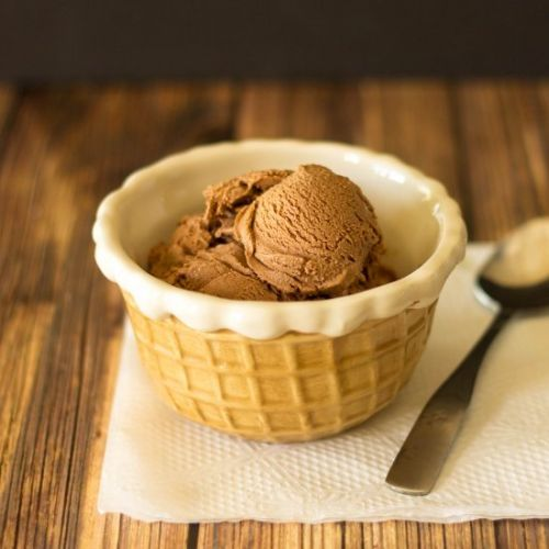 No Egg Homemade Chocolate Ice Cream