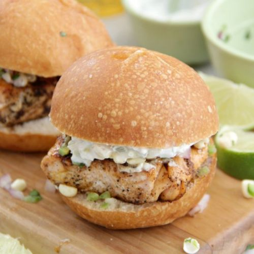 Grilled Chili Lime Salmon Sliders
