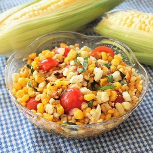 Grilled Corn and Feta Salad