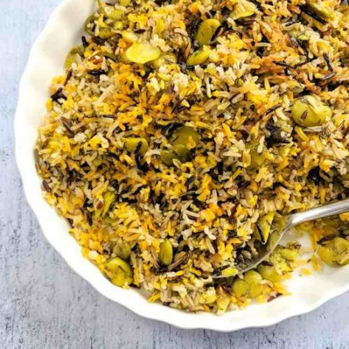 Persian rice with broad beans