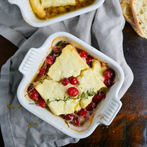 Baked Feta with Honey and Herbs
