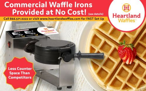 Commercial Waffle Irons Provided at No Cost - Heartland Waffles is Your Answer