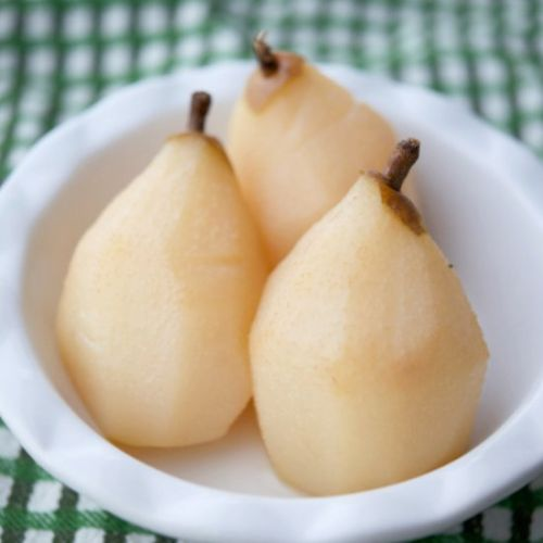 Tequila Poached Pears