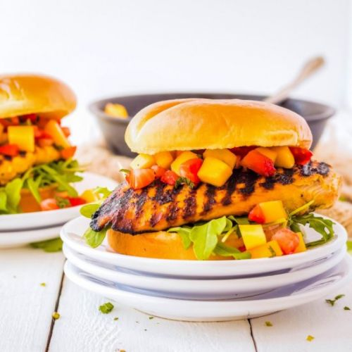Asian Fusion Chicken Burger