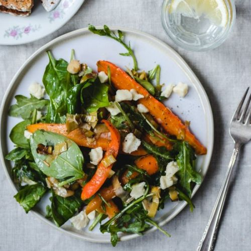 Roasted Carrot, Lemon & Leek Salad