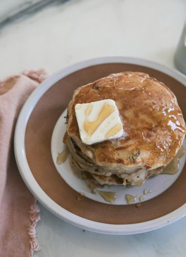 "Spiced Apple Walnut Pancakes That Say ""Hey Fall"""