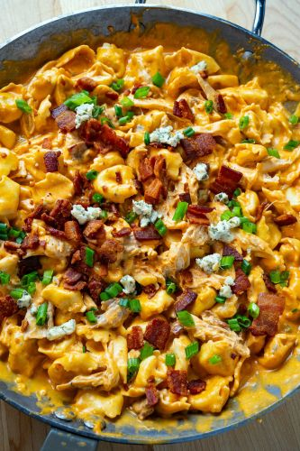 One Pan 20 Minute Buffalo Chicken Tortellini