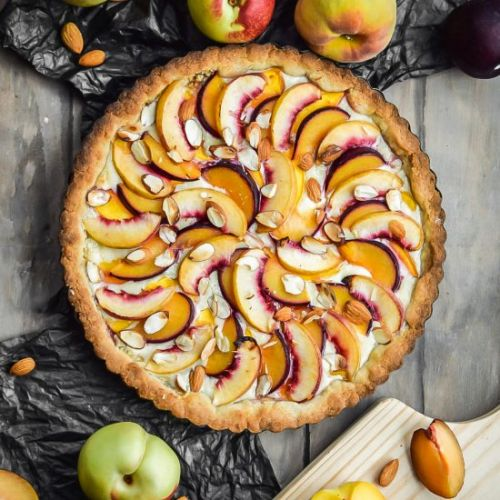 Almond and Stone Fruit Tart