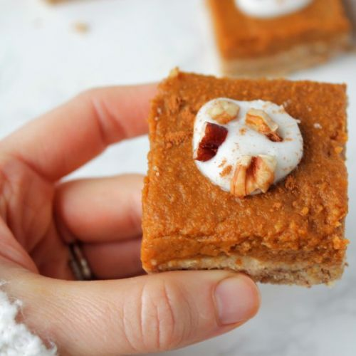 Gluten-Free Pumpkin Pie Bars