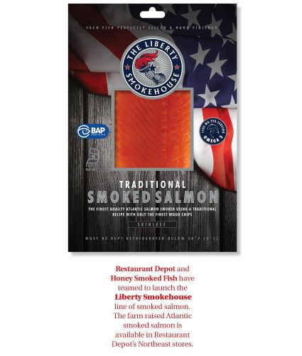 Restaurant Depot Celebrates Nation's Birthday with Launch of New Liberty Smokehouse Smoked Salmon
