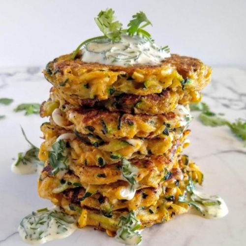 Mexican Spiced Zucchini Fritters