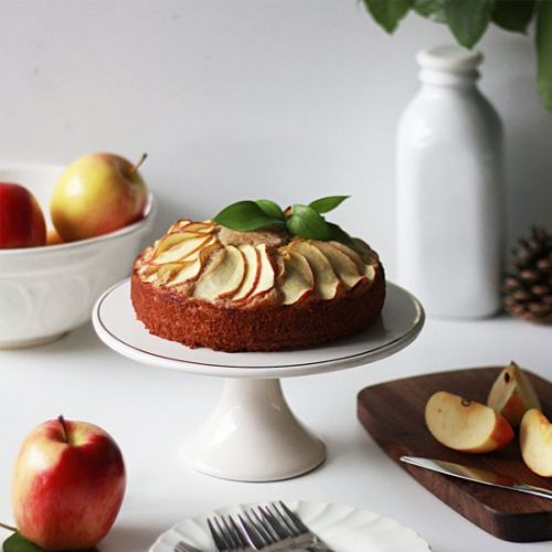 Ginger Almond Apple Cake