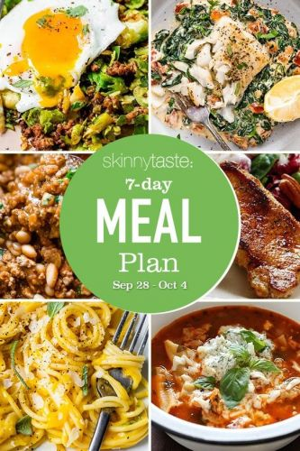 7 Day Healthy Meal Plan