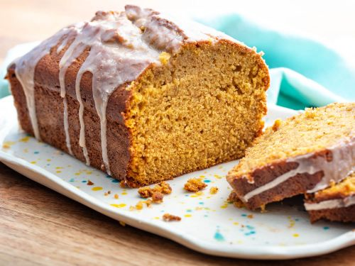 Pumpkin Bread With Salted Brown Butter Glaze
