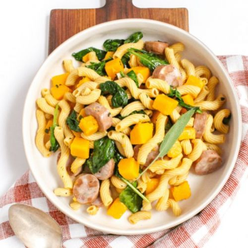 Chicken Sausage Sage Butter Pasta