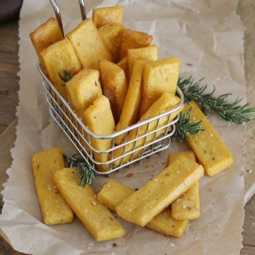Cheesy Polenta Chip