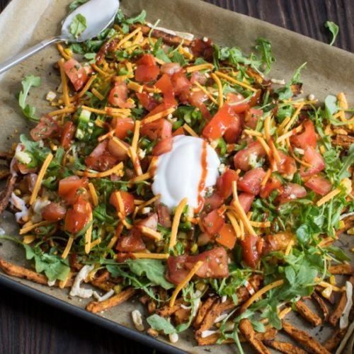 Sweet Potato Sheet Pan Nachos