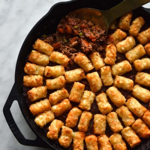 Vegan Shepherd's Pie with TaterTots
