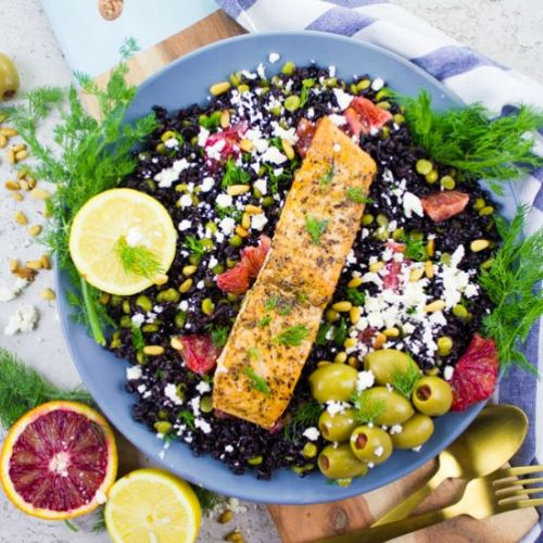 Blood Orange Salmon Salad