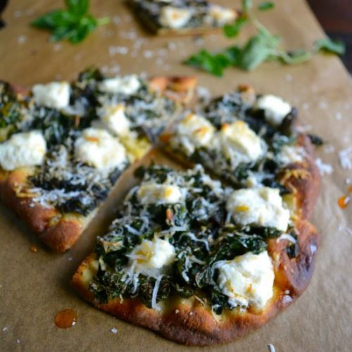 Spicy Kale & Ricotta Pizza