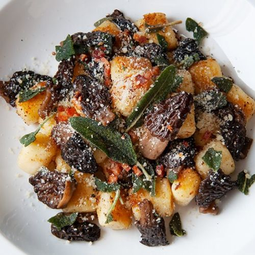 Gnocchi with Morels and Sage