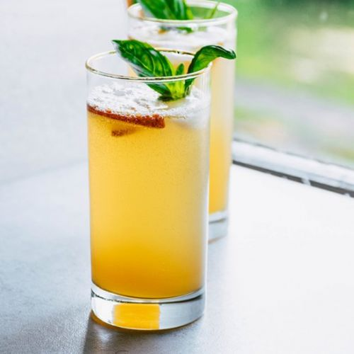 Peach Bourbon Spritzers