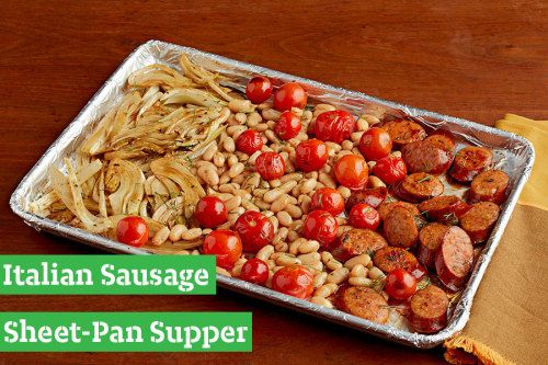 This new fall recipe for Italian Sausage Sheet-Pan Supper is